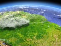 从空间的亚马逊雨林 皇族释放例证