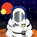 空间的宇航员 免版税库存照片