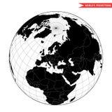 从空间的欧洲视图 库存照片