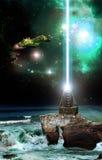 空间的灯塔 免版税库存图片