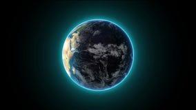 从空间的神秘的地球 股票录像