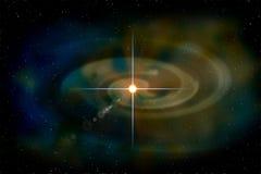 从空间的行星在晚上 库存图片
