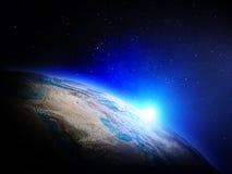 从空间的行星地球 免版税库存照片