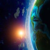 从空间的行星 免版税库存照片