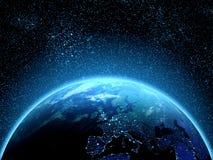 从空间看见的行星地球 免版税库存图片