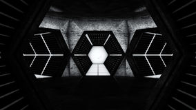 空间站走廊隧道 免版税库存图片