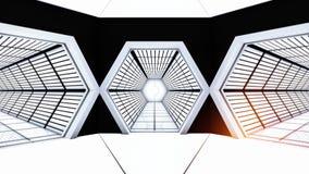 空间站走廊隧道 免版税库存照片