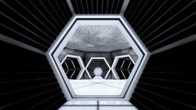 空间站走廊隧道 库存照片