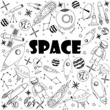 空间线艺术设计传染媒介例证 图库摄影