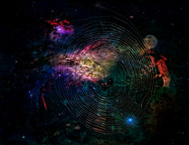 空间蜘蛛 图库摄影