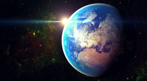 空间行星地球 库存图片