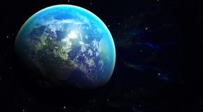 空间行星地球 免版税库存图片