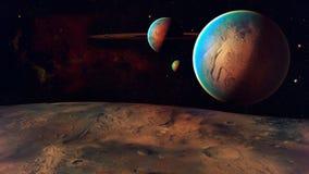 空间行星 库存图片