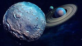 空间行星 库存例证