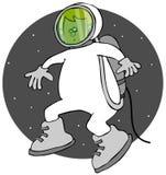 空间行走的男孩 免版税库存图片