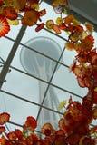 空间针和艺术性的玻璃 免版税库存照片