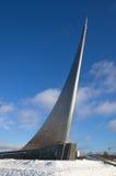 空间`,莫斯科,俄罗斯的纪念碑`征服者 免版税图库摄影