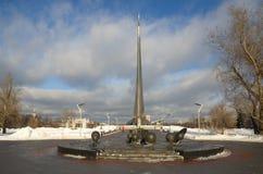 空间`,莫斯科,俄罗斯的纪念碑`征服者 库存图片