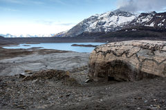 空Mont Cenis的湖 库存图片