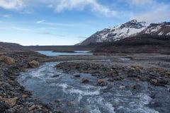 空Mont Cenis的湖 免版税库存照片