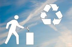 穿上生态学废弃物符号t 免版税库存照片