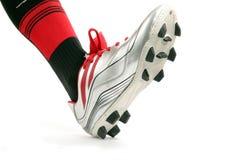 穿上鞋子体育运动 库存图片