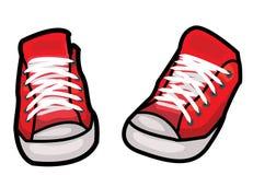 穿上鞋子例证 免版税库存照片