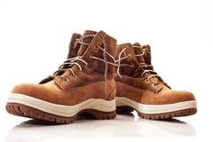 穿上鞋子冬天 图库摄影