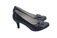 穿上鞋子妇女 库存图片