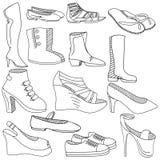 穿上鞋子彩图传染媒介例证 库存图片