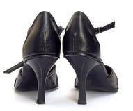 穿上鞋子成功妇女 免版税库存图片