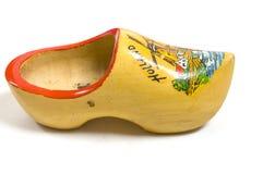 穿上鞋子木黄色 库存图片