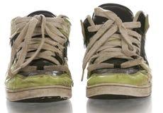 穿上鞋子破旧 免版税图库摄影