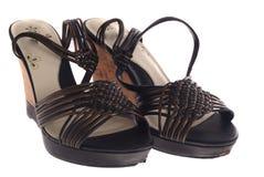 穿上鞋子象女人 免版税库存照片