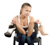 穿上鞋子选择 免版税库存图片