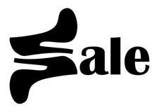 穿上鞋子销售商标 免版税库存图片