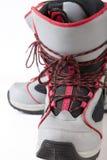 穿上鞋子雪板 免版税库存图片