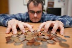 穿上货币我的t接触 免版税库存图片