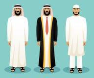 穿传统衣物的阿拉伯人 图库摄影