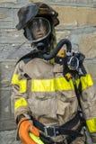 穿制服的消防队员manequin 库存图片