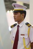 穿制服的男性卫兵 免版税库存照片