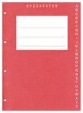 穿孔的红色封页 库存图片
