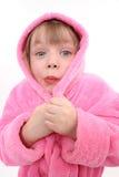 穿戴冻结的女孩褂子有 免版税图库摄影