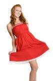 穿戴女孩红色 免版税库存图片