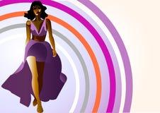 穿戴模型紫罗兰 库存图片