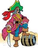 穿戴的海盗雨衣 库存照片