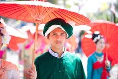 穿戴的m传统上年轻人 免版税库存照片