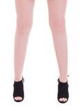 穿时兴的脚腕保险开关起动的年轻女性模型 免版税库存照片