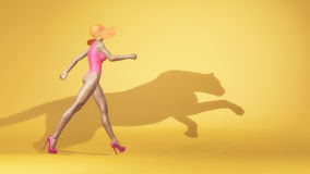 穿泳装的妇女 免版税库存图片