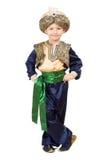 穿着东方服装的男孩。 查出 免版税库存图片